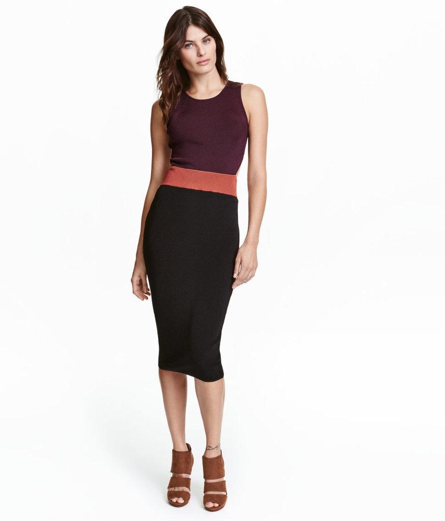 H&M Ribbed Dress - Plum - Ladies ($60)