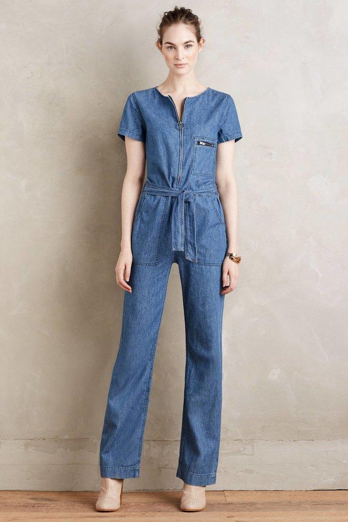 MiH Jeans Denim Jumpsuit Tinted Denim Xs Jumpsuits ($395)