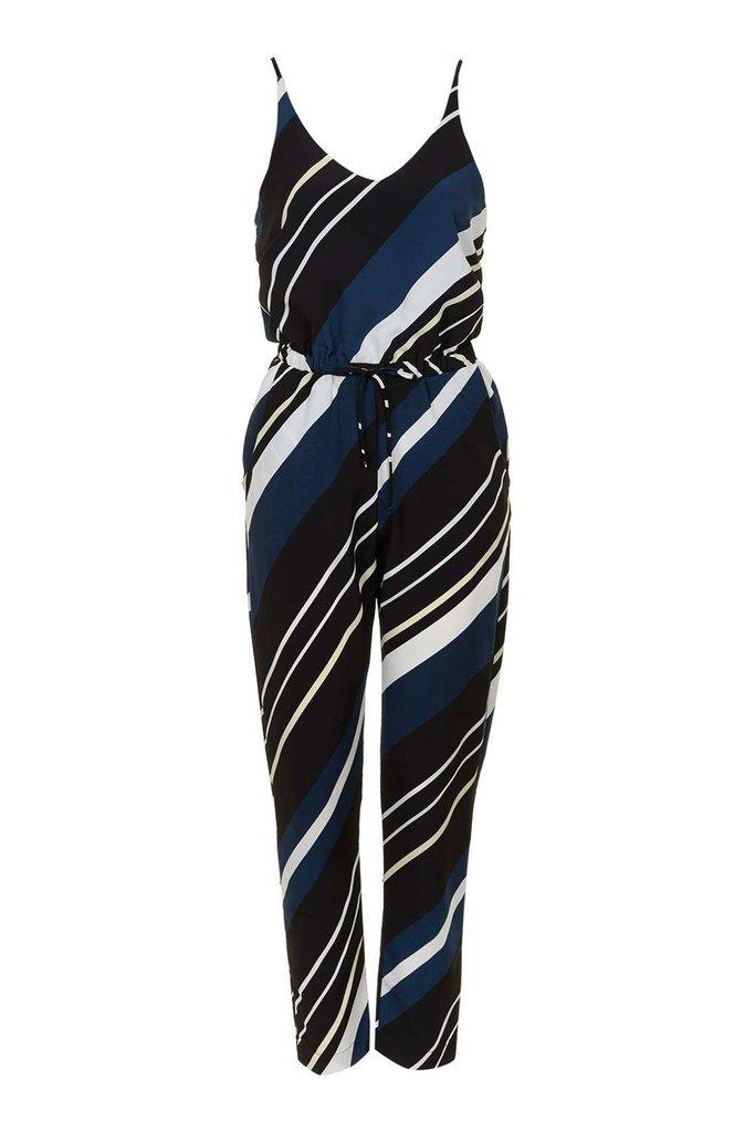 Topshop Diagonal stripe jumpsuit ($80)