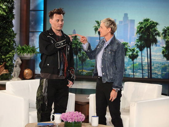Johnny Depp Does His Best Donald Trump Impression on Ellen