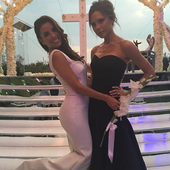 Victoria Beckham Black Dress at Eva Longoria's Wedding