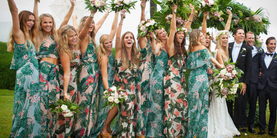 17 Bridal Parties Who Rocked Floral Prints Like Nobody's Business