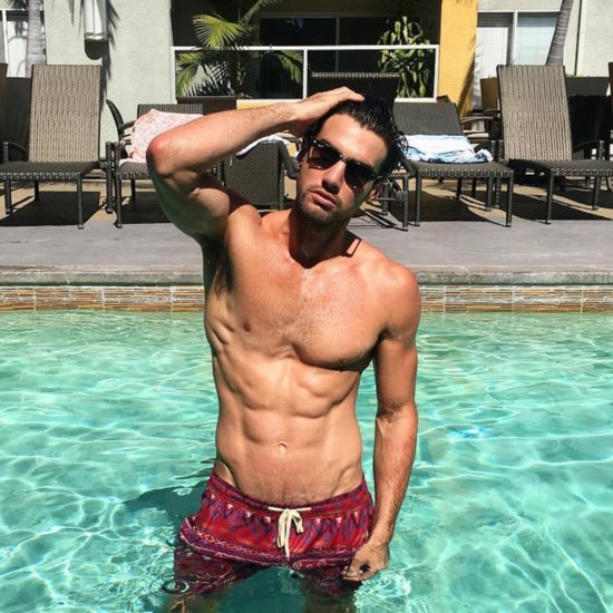 Hot Guy in a Pool