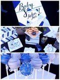 This Icy-Blue Geometric Baby Shower Idea Is Anything but Basic