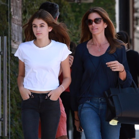 Kaia Gerber and Cindy Crawford Wearing Jeans May 2016