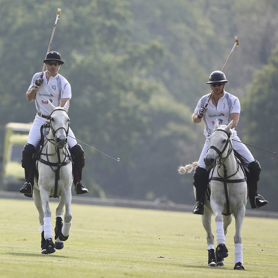 Prince William and Harry at The Audi Polo Challenge May 2016