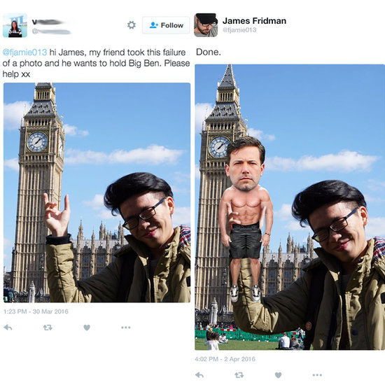 Guy Photoshops People Into Funny Pictures on Twitter
