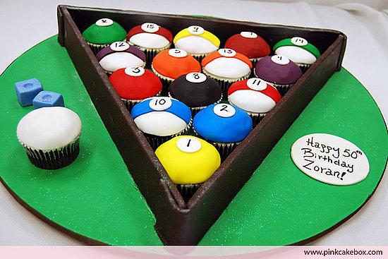 Pool Ball Cake