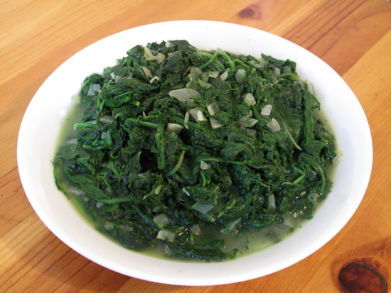 White House No-Cream Creamed Spinach Recipe