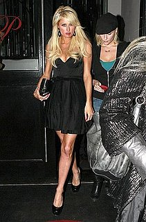 Photos of Paris Hilton Getting Her Nails Done Before Partying in West Hollywood