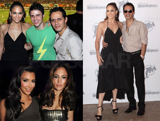 Photos of Jennifer Lopez, Kim Kardashian, and Marc Anthony in Miami