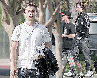 Photos of Justin Timberlake on the set of The Social Network 2009-11-09 17:00:41
