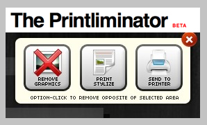 The Printliminator Helps You Remove Ads and Graphics From Webpages Before You Click Print
