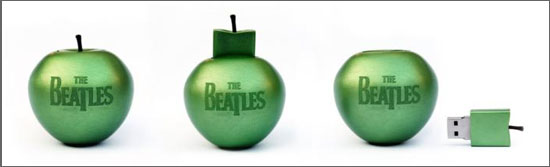 Beatles Songs to Be Released on Apple-Shaped USB Drive