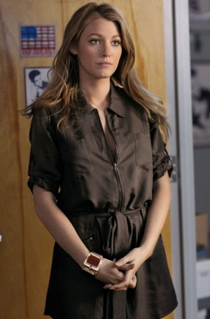 Blake Lively Wears Mason by Michelle Mason Shirt Dress in Gossip Girl