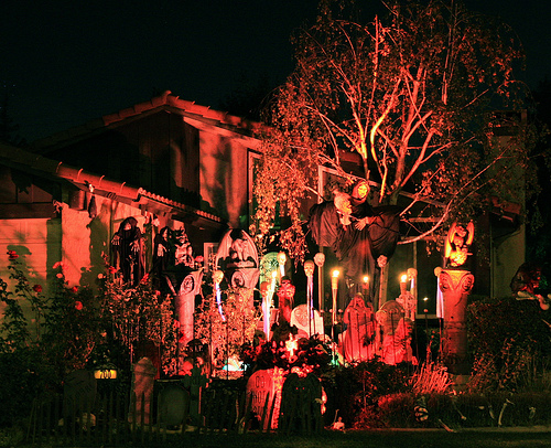 is your house decorated for halloween popsugar home