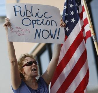 Front Page: The Public Wants a Public Healthcare Option