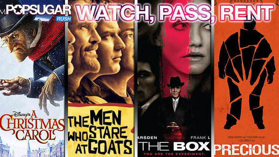 The Box, Precious, The Men Who Stare at Goats, A Christmas Carol