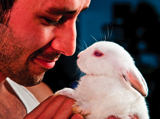 Who Can Resist Hot Guys and Baby Animals?