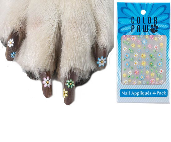 Color Paw Nail Appliques