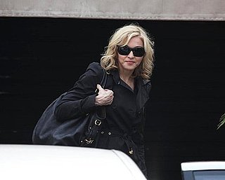 Slide Photo of Madonna In Brazil Getting Lunch