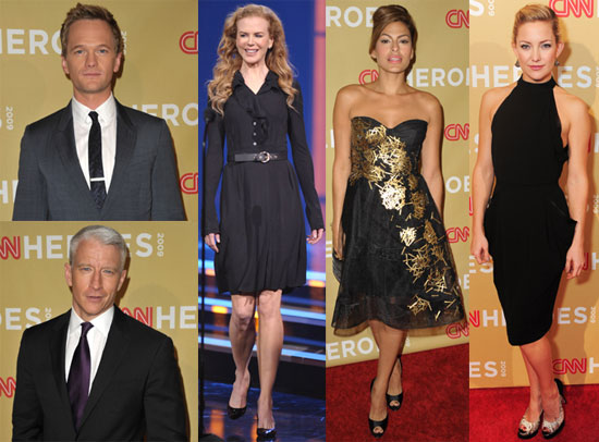Photos of Nicole Kidman, Anderson Cooper, Kate Hudson, Eva Mendes, Dwayne Johnson, Neil Patrick Harris at CNN's Heroes Awards 2009-11-23 07:45:00
