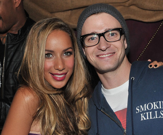 Slide Photo of Justin Timberlake and Leona Lewis at Album Party in LA