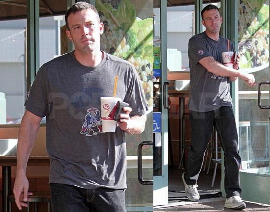 Photos of Ben Affleck Leaving Jamba Juice in LA