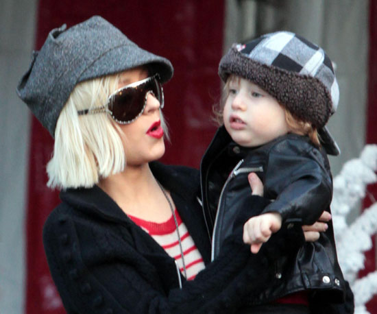 Slide Photo of Christina Aguilera and Max Bratman in LA Getting Christmas Tree