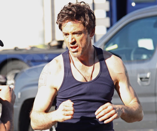 Slide Photo of Robert Downey Jr Practicing Stunts on the Set of Due Date