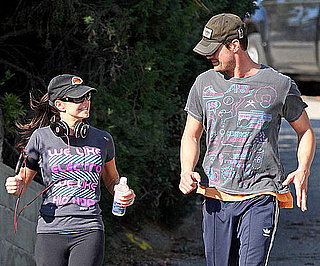Slide Photo of Fergie and Josh Duhamel Working Out in LA