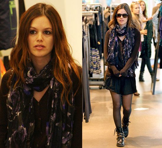 Photos of Rachel Bilson Wearing Studded Black See by Chloe Boots While Shopping at The Grove in LA
