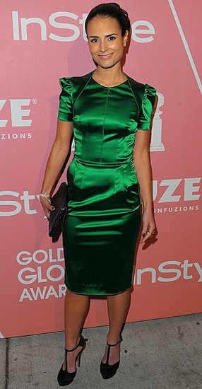 Photo of Jordana Brewster Wearing Emerald Green Dress at Second Annual Golden Globes Party in LA