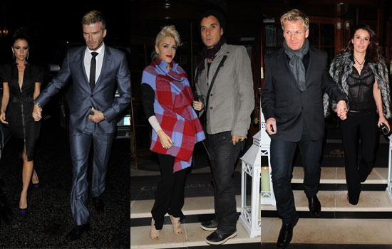 Photos of David Beckham, Victoria Beckham, Gavin Rossdale, Gwen Stefani, Gordon Ramsay at Harper's Bazaar Dinner in London