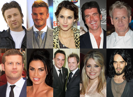 Best of 2009 Poll on British Personalities — Who's Your Favourite? Russell Brand, Simon Cowell, Alexa Chung, Holly Willoughby