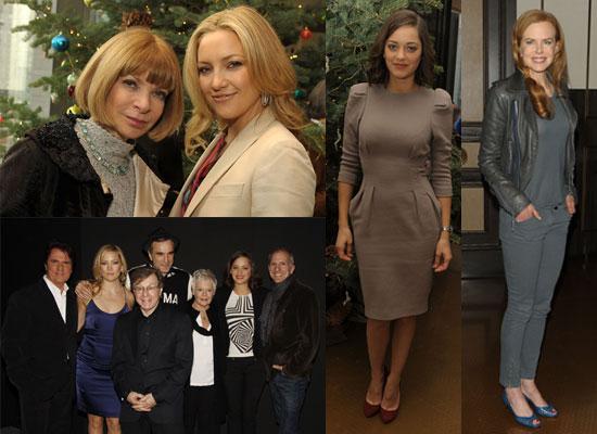 Photos of Judi Dench, Marion Cotillard, Kate Hudson, Daniel Day-Lewis, Nicole Kidman at Nine Luncheon and Screening NYC