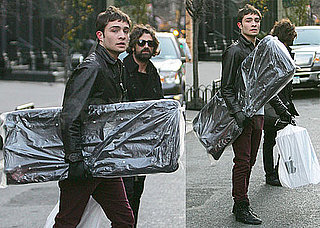 Photos of Ed Westwick Holiday Shopping in NYC
