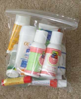 How Many Products Do You Squeeze Into Your Plastic Carry-On?