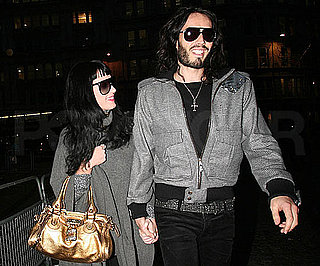 Slide Photo of Katy Perry and Russell Brand Holding Hands in London Before XMas
