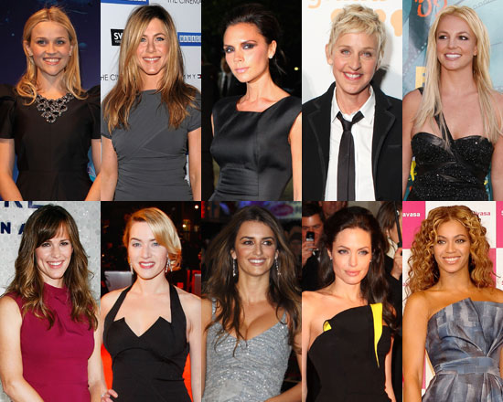 Photos and Poll of Favorite Female Stars of 2009 Reese Witherspoon, Angelina Jolie, Jennifer Aniston, Beyonce Knowles, Penelope