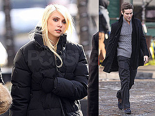 Photos of Chace Crawford and Taylor Momsen Filming Gossip Girl in NYC