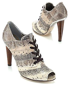 Dolce & Gabbana Runway Snakeskin Lace-Up Bootie