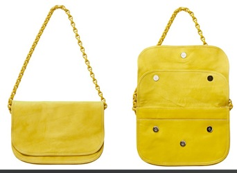 A.P.C. Lemon yellow purse with chain strap as part of Summer 2008 collection