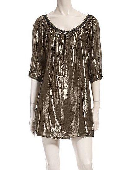 Grey Ant Gold Lamé Sack Dress