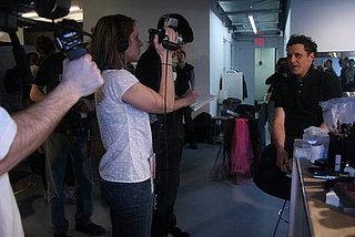Backstage at Isaac Mizrahi Fall 2008 Show