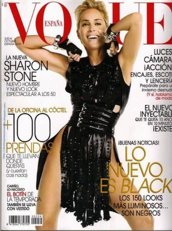 Sharon Stone - Vogue Spain October 2009
