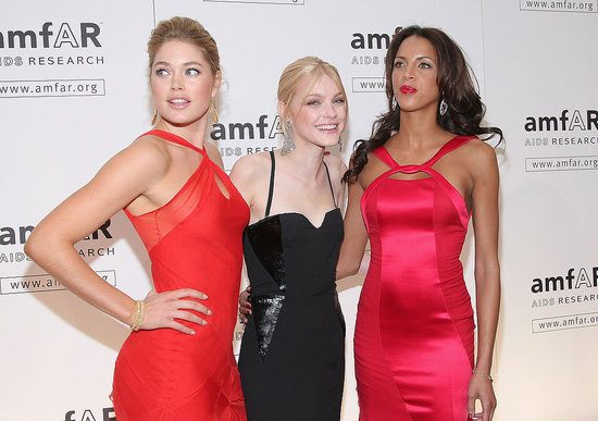 Jessica Stam, Lily Donaldson Help AmfAR Launch the Fashion Week Storm