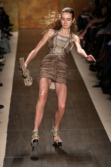 Herve Leger Fall 2009: Full of Model Falls