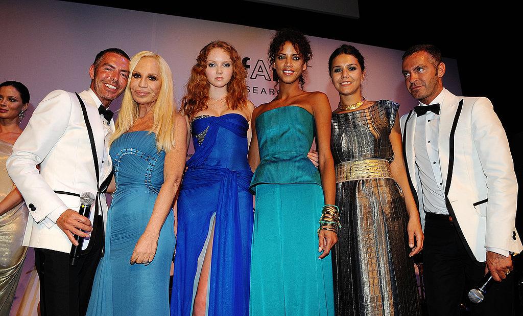 Dean Caten, Donatella Versace, Lily Cole, Noemie Lenoir, Margherita Missoni, Dan Caten