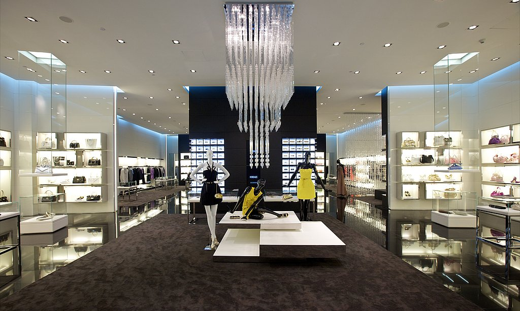 Versace opened two boutiques in dubai this month for Boutique one dubai